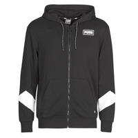 Textiel Heren Sweaters / Sweatshirts Puma REBEL FZ HOOD Zwart