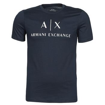 Textiel Heren T-shirts korte mouwen Armani Exchange 8NZTCJ-Z8H4Z Marine