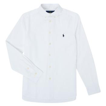 Textiel Jongens Overhemden lange mouwen Polo Ralph Lauren CAMIZA Wit