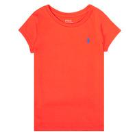 Textiel Meisjes T-shirts korte mouwen Polo Ralph Lauren SIDONIE Rood