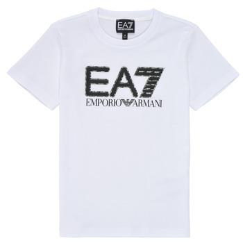 Textiel Jongens T-shirts korte mouwen Emporio Armani EA7 3KBT53-BJ02Z-1100 Wit