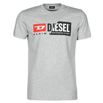 Textiel Heren T-shirts korte mouwen Diesel 00SDP1-0091A-912 Grijs