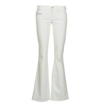Textiel Dames Bootcut jeans Diesel D-EBBEY Wit
