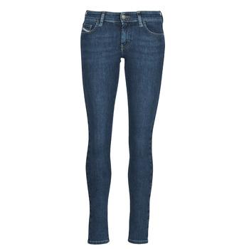 Textiel Dames Skinny Jeans Diesel SLANDY-LOW Blauw / Medium