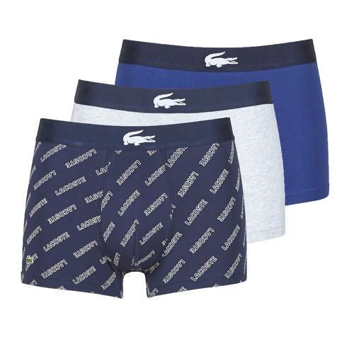 Ondergoed Heren Boxershorts Lacoste GHAFFO Marine / Wit / Grijs