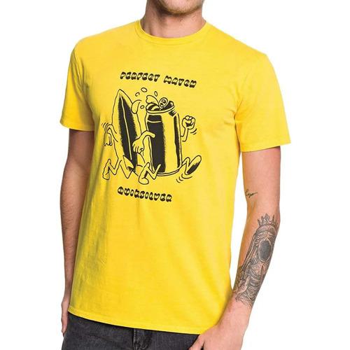 Textiel Heren T-shirts korte mouwen Quiksilver  Geel