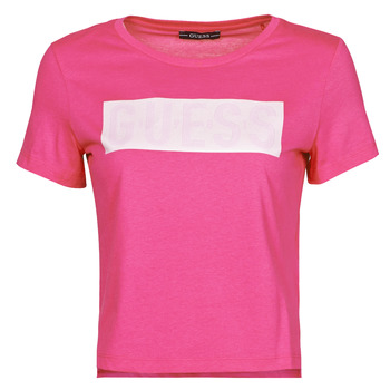 Textiel Dames T-shirts korte mouwen Guess SS CN ADRIA TEE Fushia