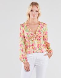 Textiel Dames Tops / Blousjes Guess NEW LS GWEN TOP Multicolour