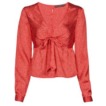 Textiel Dames Tops / Blousjes Guess NEW LS GWEN TOP Rood / Wit