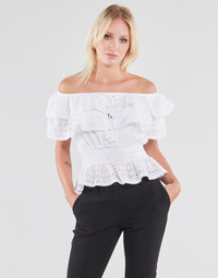 Textiel Dames Tops / Blousjes Guess SS NEW ISOTTA TOP Wit