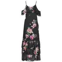 Textiel Dames Lange jurken Guess AGATHE DRESS Zwart / Multicolour