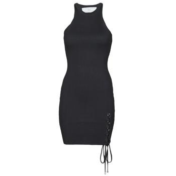 Textiel Dames Korte jurken Guess ALEXA TIE DRESS Zwart