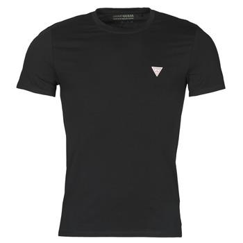 Textiel Heren T-shirts korte mouwen Guess CN SS CORE TEE Zwart