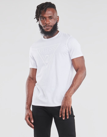 Guess ES SS EMBROIDERED LOGO TEE
