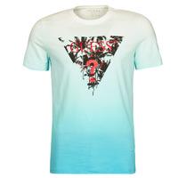 Textiel Heren T-shirts korte mouwen Guess PALM BEACH CN SS TEE Blauw