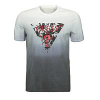 Textiel Heren T-shirts korte mouwen Guess PALM BEACH CN SS TEE Zwart