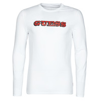 Textiel Heren T-shirts met lange mouwen Guess GUESS PROMO CN LS TEE Wit