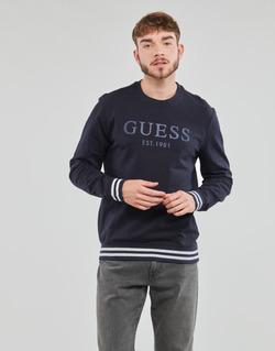 Textiel Heren Sweaters / Sweatshirts Guess BEAU CN FLEECE Zwart