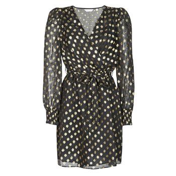 Textiel Dames Korte jurken Naf Naf DOTSYTA Zwart / Goud