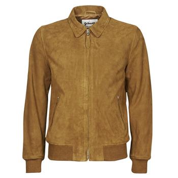 Textiel Heren Leren jas / kunstleren jas Schott LC YALES S Cognac