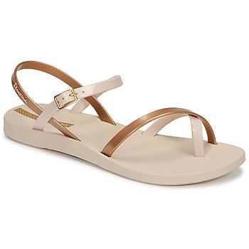 Schoenen Dames Sandalen / Open schoenen Ipanema Ipanema Fashion Sandal VIII Fem Beige / Goud