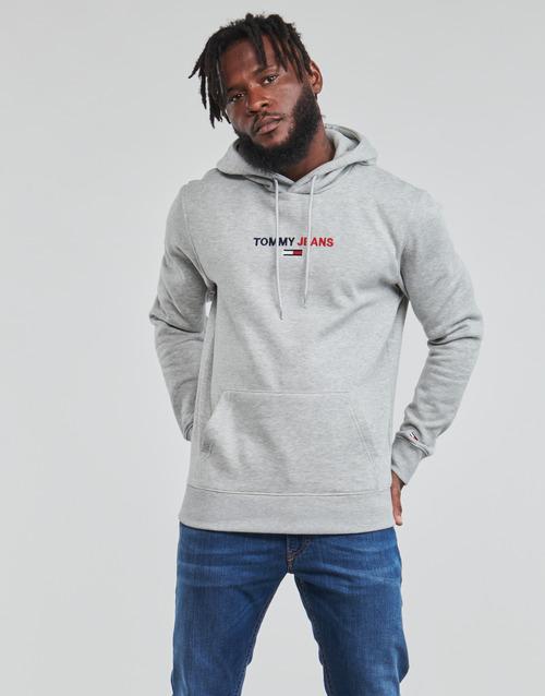 Textiel Heren Sweaters / Sweatshirts Tommy Jeans TJM LINEAR LOGO HOODIE Grijs