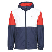 Textiel Heren Windjack Tommy Jeans TJM NYLON COLORBLOCK WINDBREAKER Wit / Rood / Marine