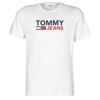 Textiel Heren T-shirts korte mouwen Tommy Jeans TJM CORP LOGO TEE Wit