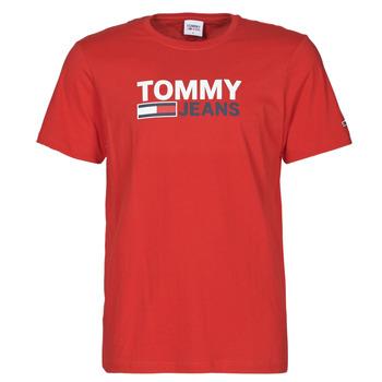 Textiel Heren T-shirts korte mouwen Tommy Jeans TJM CORP LOGO TEE Rood