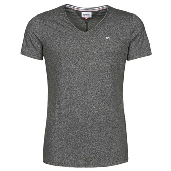 Textiel Heren T-shirts korte mouwen Tommy Jeans TJM SLIM JASPE V NECK Zwart