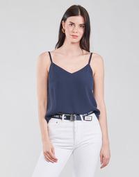 Textiel Dames Tops / Blousjes Tommy Jeans TJW CAMI TOP Marine