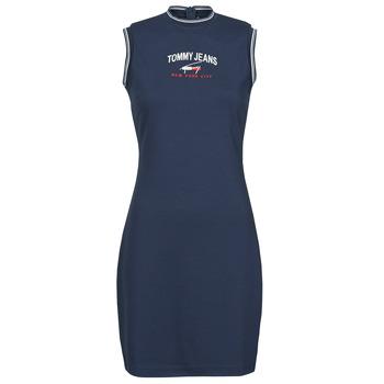 Textiel Dames Korte jurken Tommy Jeans TJW TIMELESS SCRIPT DRESS Marine