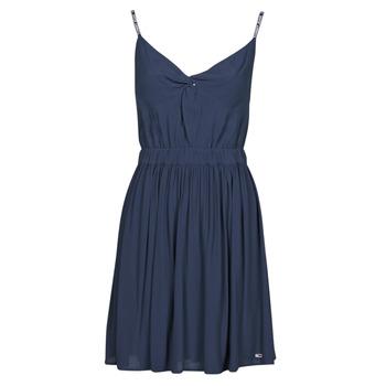 Textiel Dames Korte jurken Tommy Jeans TJW ESSENTIAL STRAP DRESS Marine