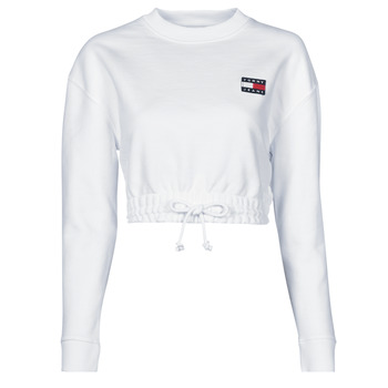Textiel Dames Sweaters / Sweatshirts Tommy Jeans TJW SUPER CROPPED BADGE CREW Wit