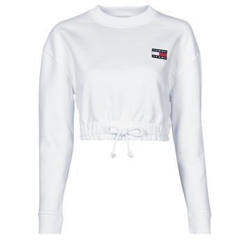 Textiel Dames Sweaters / Sweatshirts Tommy Jeans TJW SUPER CROPPED BADGE CREW Wit