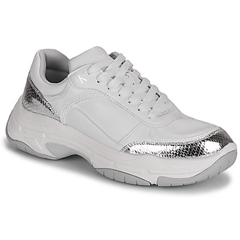 Schoenen Dames Lage sneakers Calvin Klein Jeans CHUNKY SOLE LACEUP PU-PYT PES Wit / Zilver