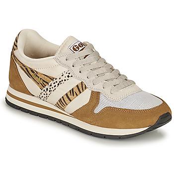 Schoenen Dames Lage sneakers Gola DAYTONA SAFARI Zebra / Camel