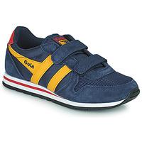Schoenen Kinderen Lage sneakers Gola DAYTONA VELCRO Marine / Geel