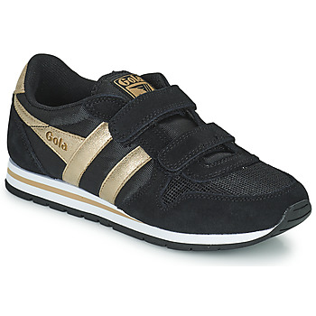 Schoenen Meisjes Lage sneakers Gola DAYTONA MIRROR VELCRO Zwart / Goud