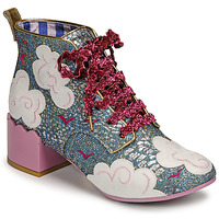 Schoenen Dames Enkellaarzen Irregular Choice HEAD IN THE CLOUDS Blauw / Roze