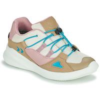 Schoenen Kinderen Lage sneakers Hummel BOUNCE RUNNER TEX JR Beige / Roze