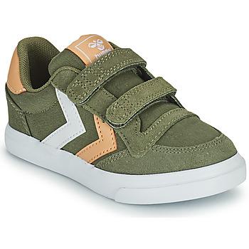 Schoenen Kinderen Lage sneakers Hummel STADIL LOW JR Groen