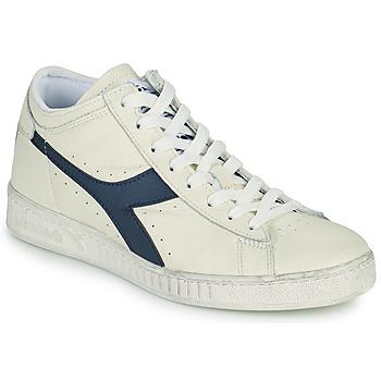 Schoenen Hoge sneakers Diadora GAME L WAXED ROW CUT Wit / Blauw