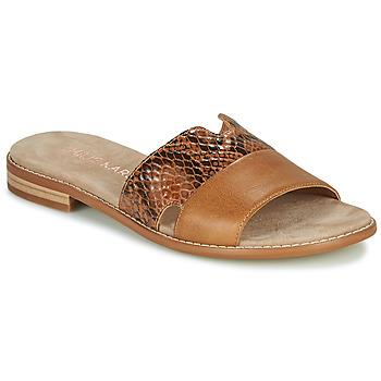 Schoenen Dames Leren slippers Karston XAPLINA Bruin