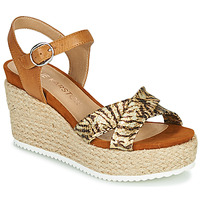 Schoenen Dames Sandalen / Open schoenen Karston LABON Bruin / Goud