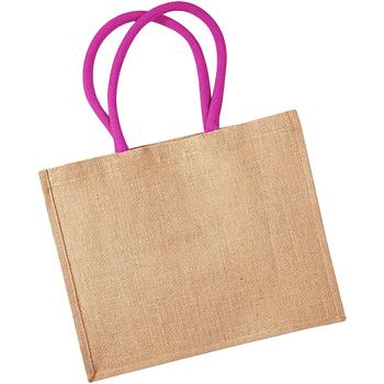 Tassen Dames Tote tassen / Boodschappentassen Westford Mill W407 Natuurlijk/Fuchsia