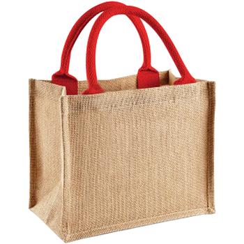 Tassen Tote tassen / Boodschappentassen Westford Mill W412 Natuurlijk/rechtstreeks rood