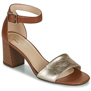 Schoenen Dames Sandalen / Open schoenen Clarks JOCELYNNE CAM Bruin / Zilver