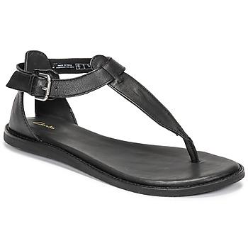 Schoenen Dames Sandalen / Open schoenen Clarks KARSEA POST Zwart