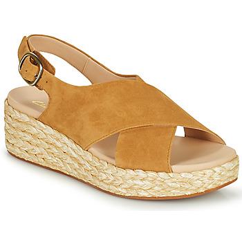Schoenen Dames Sandalen / Open schoenen Clarks KIMMEI CROSS Bruin